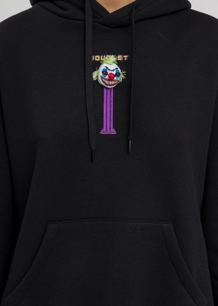 Doublet Puppet Embroidery Hoodie - Black