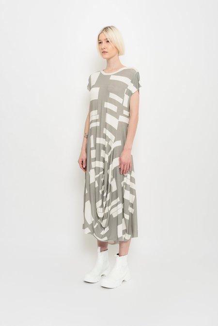 UMA Raquel Davidowicz Asymmetrical Dress with Cutouts - Nickel