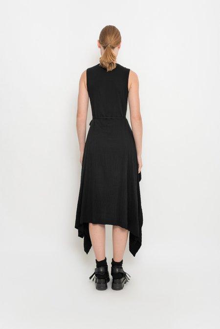 UMA Raquel Davidowicz Crinkled Asymmetric Dress - Black