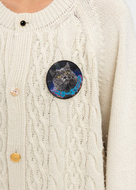 Doublet Cat Embroidery Badge - Multi
