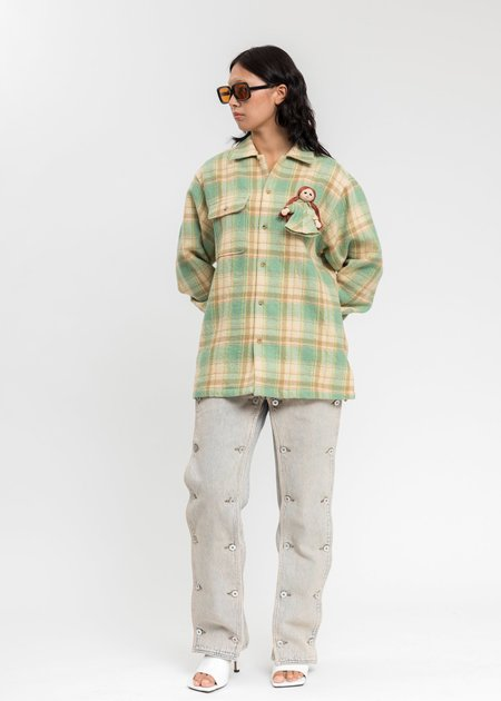 Doublet With My Doll Check Shirt - Mint