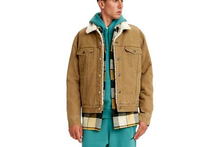 Levi's Type 3 Sherpa Trucker - Washed Cougar Canvas