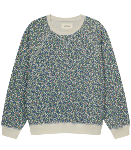 The Great. The Slouch Sweatshirt - Cream Field Floral