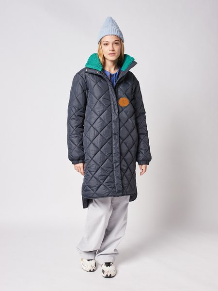 Bobo Choses Recycled Roll Neck Zip Up Padded Coat - Blue