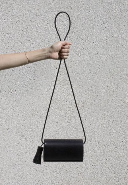 Building Block Petite Leather Bag