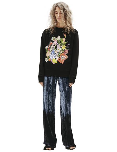 Golden Goose Printed Cotton Sweatshirt - Black