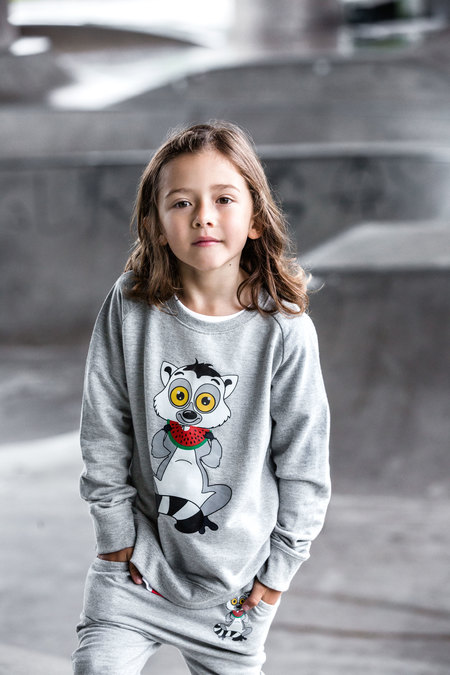 KIDS Tao&Friends Grey Lemuren Sweatshirt