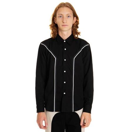 YOUTHS IN BALACLAVA Panel Shirt - Black