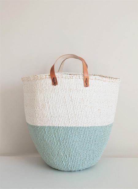 Mifuko Light Blue Kiondo Basket Large