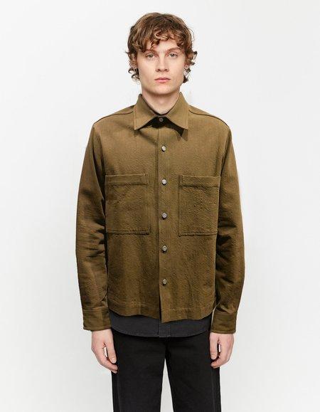 Schnayderman's workwear broken twill Overshirt - Dark green