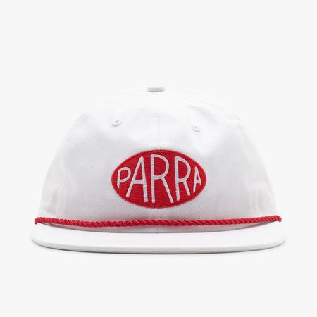 by Parra Oval Logo 5 Panel Hat - White