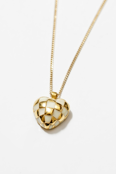 Wolf Circus Georgia Necklace - Cream/Gold