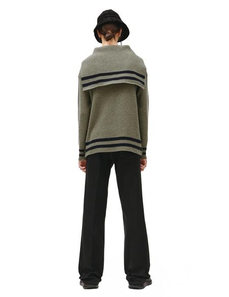 Maison Margiela wool sailor sweater - Green