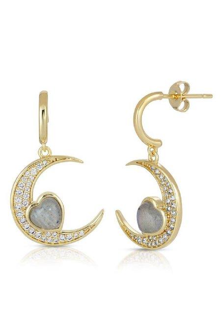 Elizabeth Stone Love You To The Moon Earrings