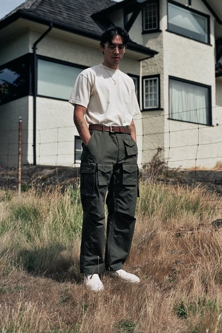 Engineered Garments Heavyweight Cotton Ripstop FA Pant - Olive