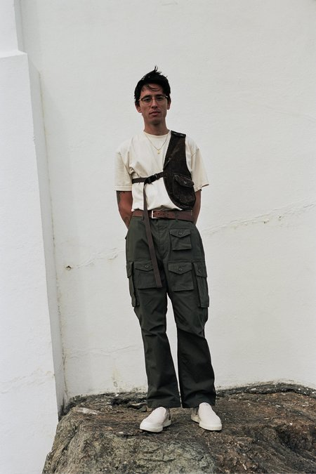 Engineered Garments Shoulder Vest - Brown