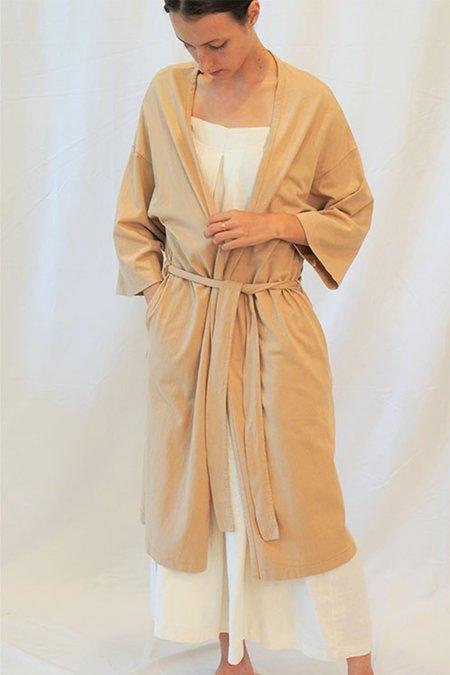 A MENTE Garment Dye Knit Robe - natural