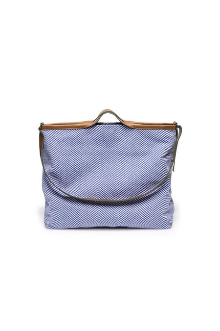 Jo Handbags XL Shopper in Blue Herringbone