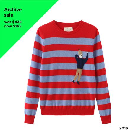 Matter Matters Cashmere Stripe Sweater - red/blue