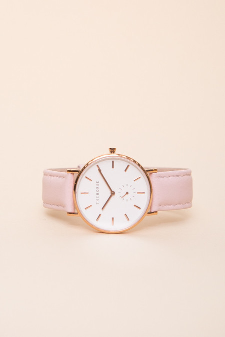 The Horse Classic Leather Watch / Rose Gold, Baby Pink Leather