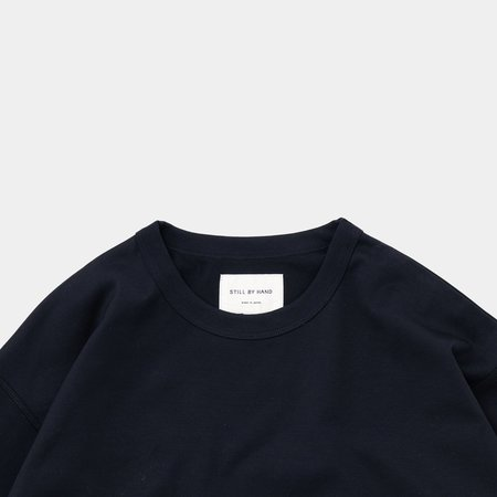 Still By Hand High Count Long Sleeve - Navy