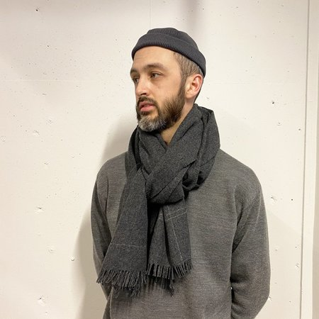 Still By Hand Sized Scarf - Charcoal