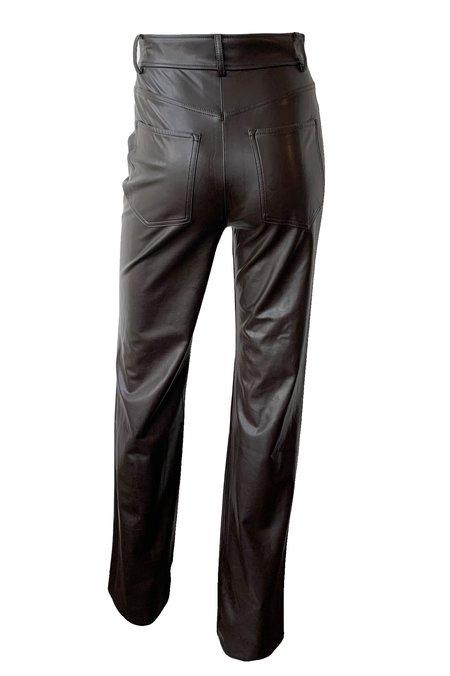 A.L.C. Christopher Vegan Leather Pants - Carob