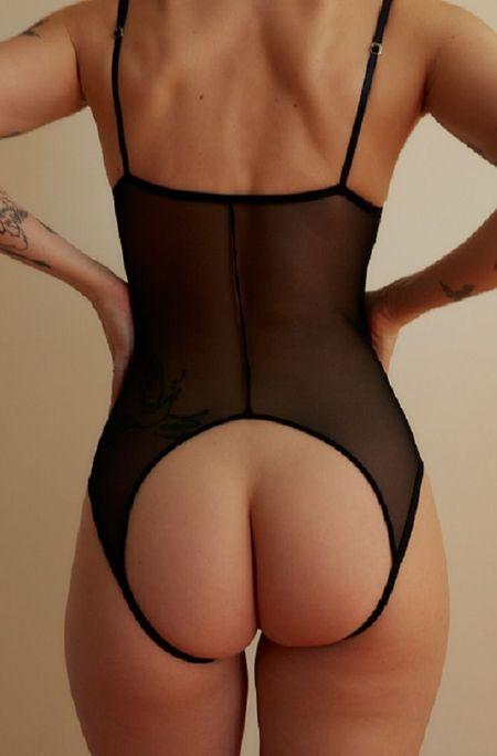 Only Hearts Whisper Balconette Coucou Bodysuit - Black