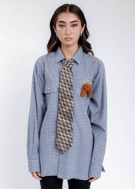Doublet Shape Memory Monogram Necktie - Beige
