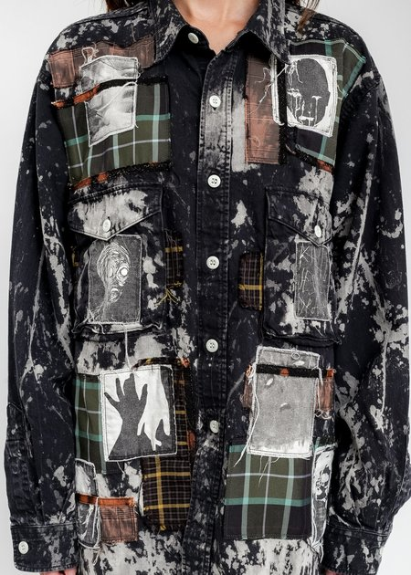 KIDILL × EDWIN Patch Denim Shirts - Multi