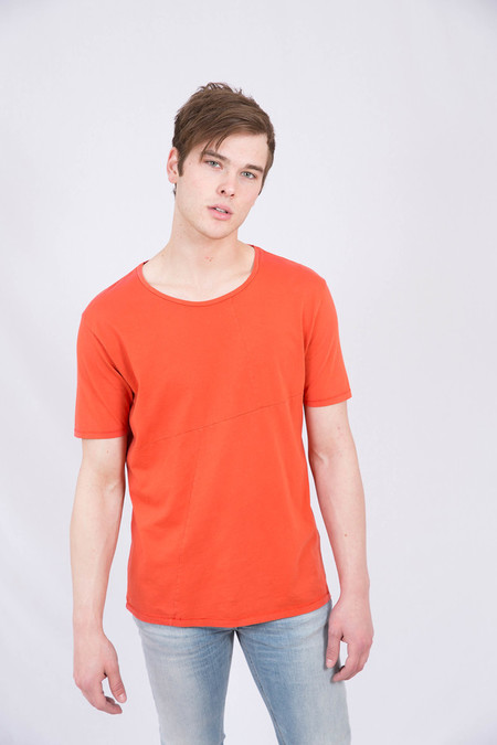 Nudie Blood Orange Ove Patched Tee