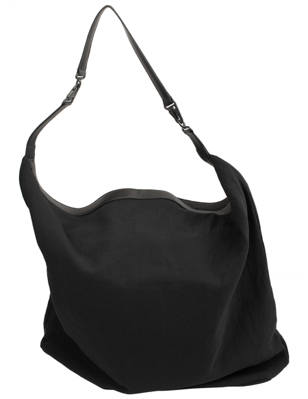 Y's Big Shoulder Bag - Black
