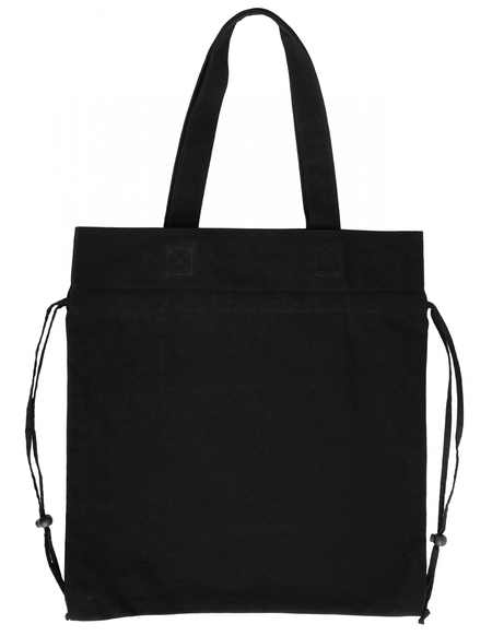 Y's Canvas Logo Drawstring bag - Black