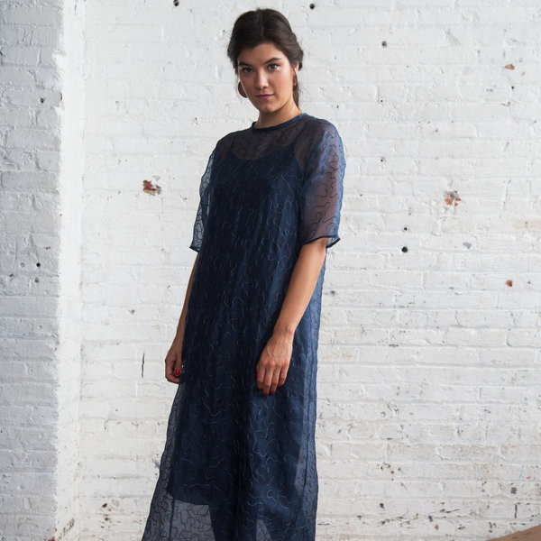 Nikki Chasin Alma Dress - Navy Squiggle