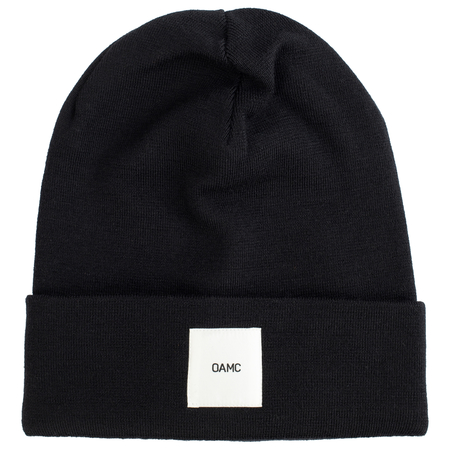 OAMC PATCHED BEANIE - Black