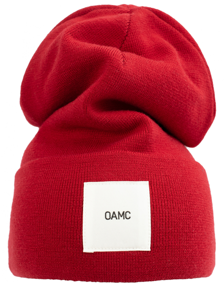 OAMC PATCHED BEANIE - Red