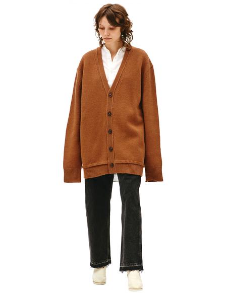 Maison Margiela Brown Wool Cardigan - Brown