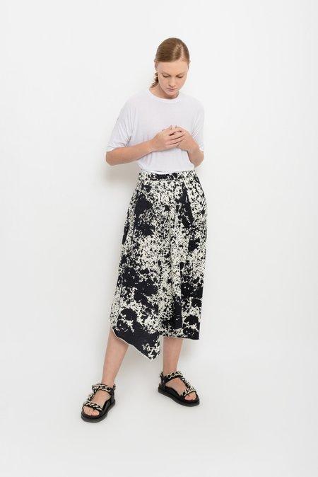 UMA Raquel Davidowicz Spattered Printed Asymmetric Culottes - Cavalinha