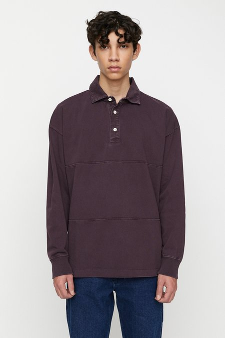 Schnayderman's Rugby garment shirt - dyed deep purple