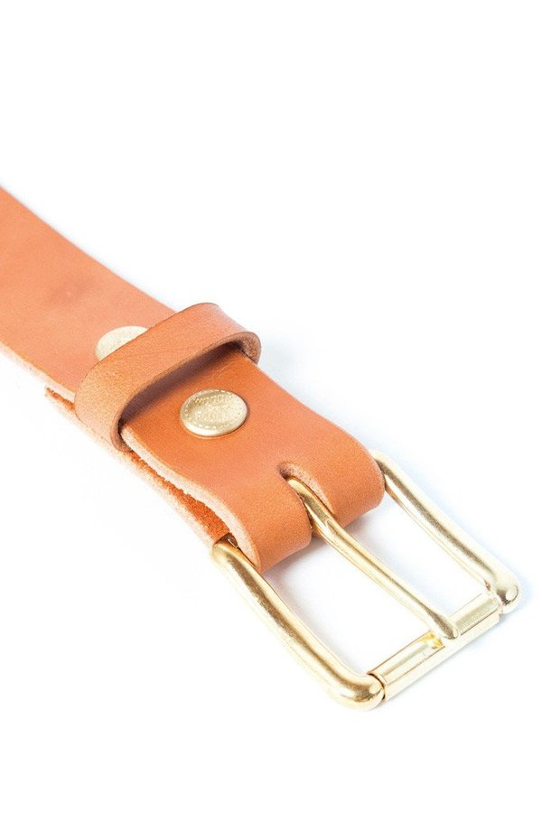 Wood&Faulk Standard Belt Tan