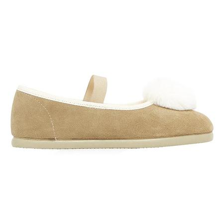 Kids Bonton Baby And Child Pia Mary Jane Shoes - Pompom Beige