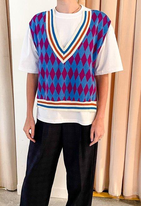 NKC Sweater Vest T- - White/Blue