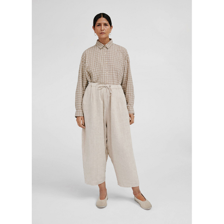 Monica Cordera Linen Maxi Pants - Natural