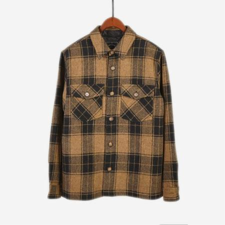 Portuguese Flannel Wool Lined Overshirt - Wood Side