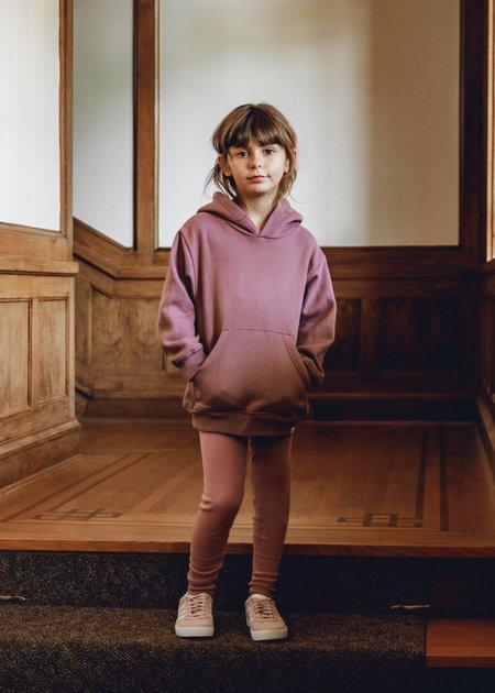 Kids Petits Vilains Ames Drop Shoulder Hoodie - Mulberry