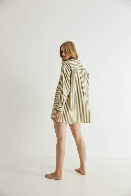 General Sleep Sleep Shirt - Khaki Stripe