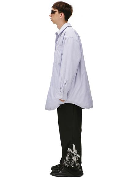 Maison Margiela  padded shirt jacket - Blue