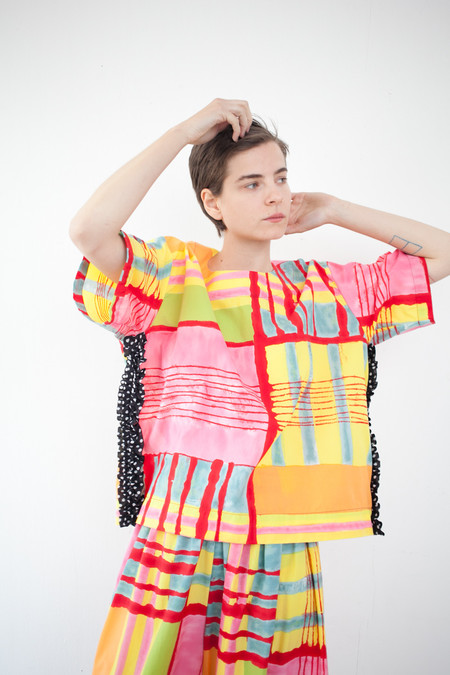 Nancy Stella Soto Tee Shirt in Dot Ruffle Print