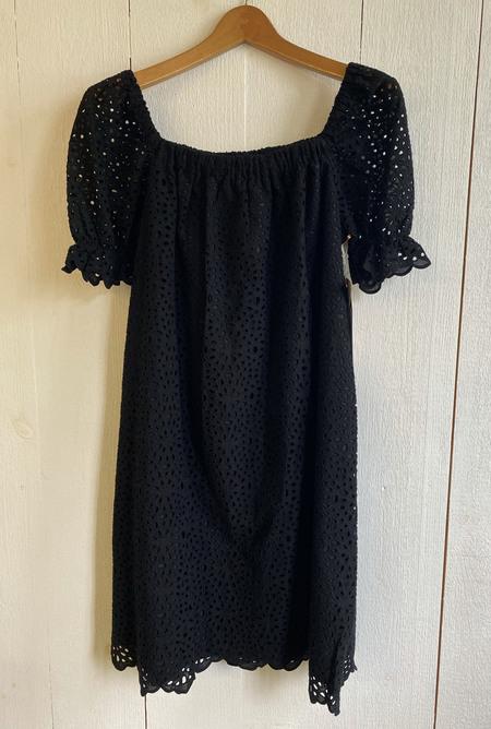 Conrado Zuri Eyelet Dress - Black