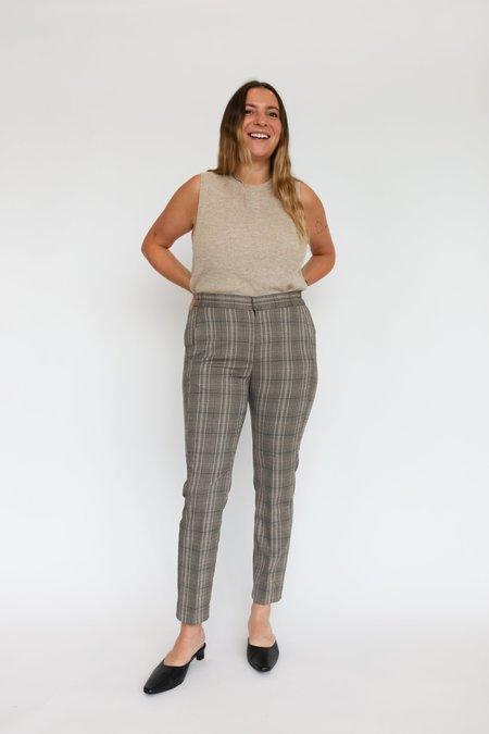 Inwear Callina Zella Flat Pant - Brown Check